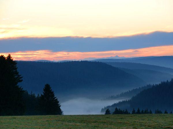 Abendröte über dem Schwarzwald
