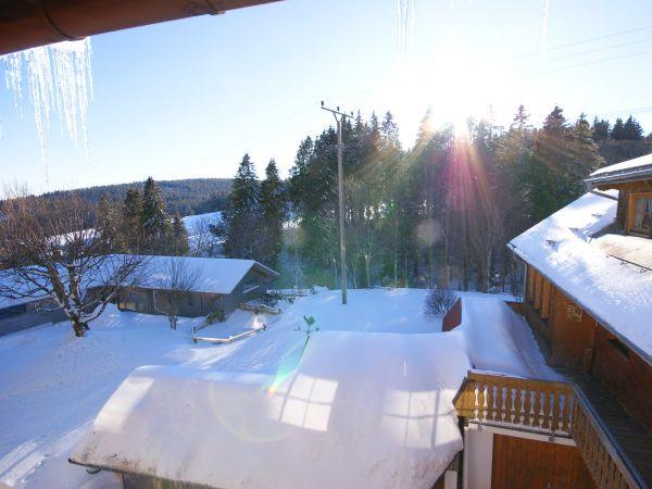 Winterlicher Ausblick von Zimmer 6