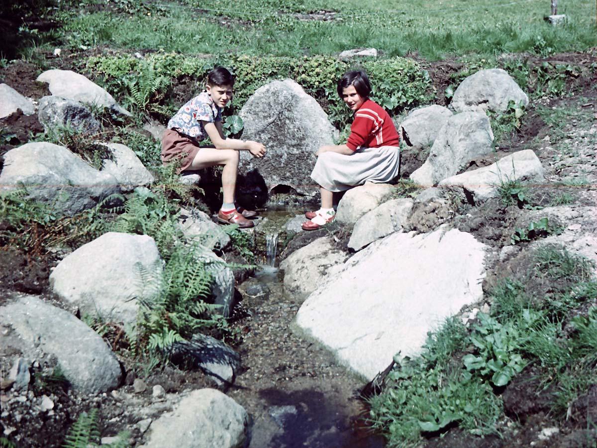 1957: Die Donauquelle im Schwarzwald